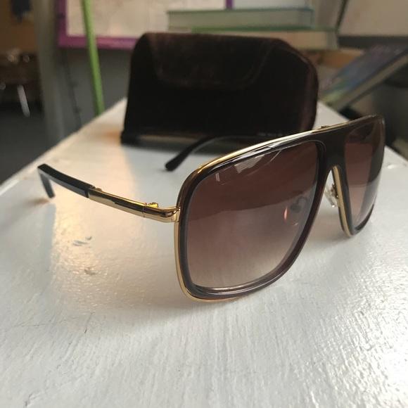 d78fe63f9c487 Tom Ford Quentin Pilot Sunglasses. M 5b1672f60cb5aad4b771fbe9